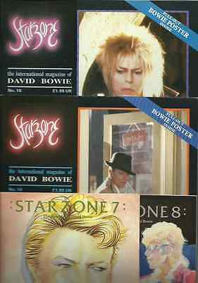 DAVID BOWIE starzone numbers 7 8 15 16 international magazine 80's pack X 4 OOP