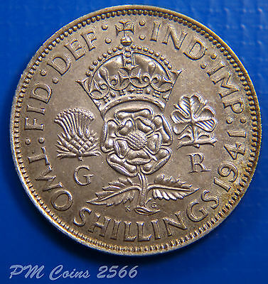 1941 George VI KGVI Silver 500 Florin/Two shilling coin [lot2566]