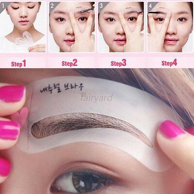 3pcs/set Lady Stencil Kit Eyebrow Template Grooming Makeup Shaping Shaper Tool
