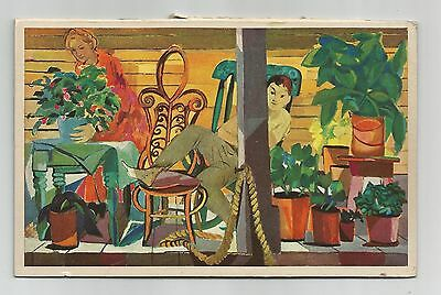 Balcony, Ghitta Caiserman, Rous & Mann Press Ltd. Art Calendar. Toronto.