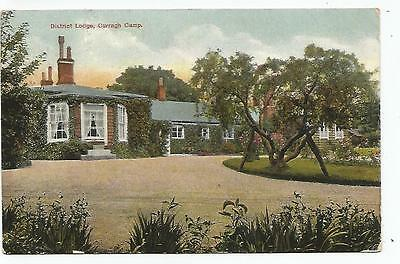 irish postcard ireland kildare district lodge curragh military camp postmark