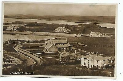 irish postcard ireland mayo rosbeg village