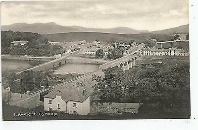 irish postcard ireland mayo newport village