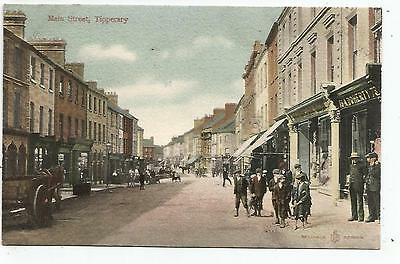 irish postcard ireland main street tipperary A doherty shop on the right