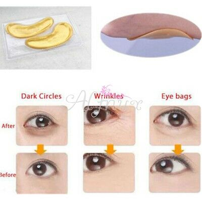 10 Pairs Collagen Crystal Gold Eye Mask Eyelid Patch Moisture Anti Wrinkle