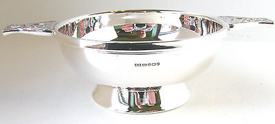 Hallmarked Silver Quaich.   ***solid Sterling Silver Christening Quaich ***
