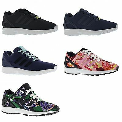 first rate f1314 5d609 ADIDAS ZX FLUX GS Boys Girls youth Junior Casual Lace Up Mesh Trainers