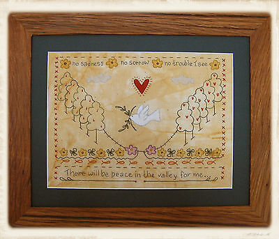 PEACE iN THE VALLEY || Stitchery Pattern || UP iN ANNiE'S ROOM!