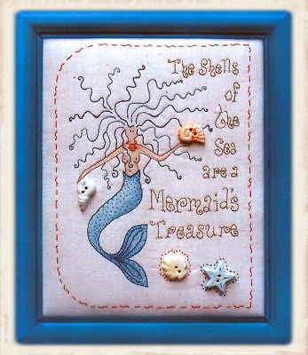 A MERMAiD'S TREASURE || Stitchery Pattern || UP iN ANNiE'S ROOM!