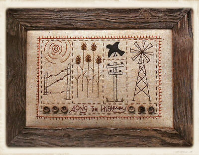 ALONG THE HiGHWAY || Stitchery Pattern || UP iN ANNiE'S ROOM!