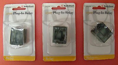 Lot of 3 New 4PDT 4 PDT 5 Amp Plug-In Relay f/275-221 Socket RadioShack 275-214