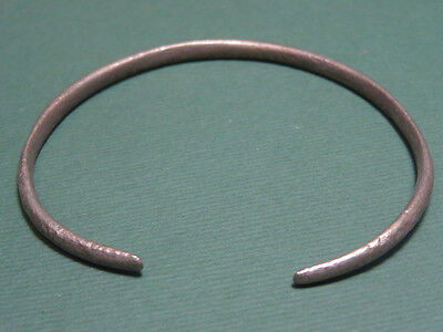 Ancient Silver Bracelet Egyptian Late Period 600-35 Bc