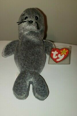 Ty Beanie Baby ~ SLIPPERY the Seal ~ MINT with MINT TAGS ~ RETIRED