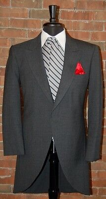 Mens 40 S  Charcoal Grey Cutaway Jacket Tuxedo Morning Coat Victorian