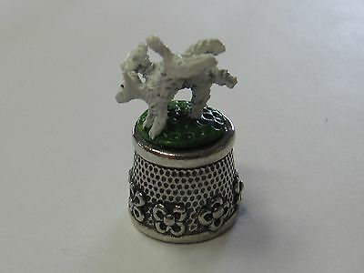 Lambs/White - Stephen Frost Pewter Thimble - New (Last Ones!)