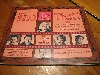 "Vintage 1967 Book WHO IS THAT? ""Guide Movie Players"" early celebrity photos"