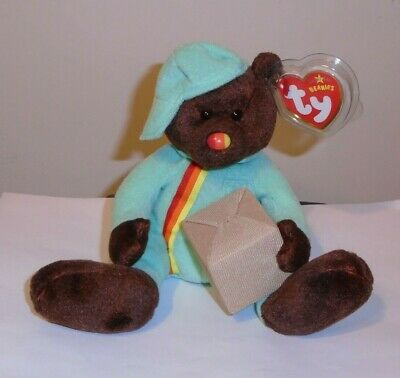 Ty Beanie Baby ~ PACKER the Bear ~ UK Exclusive ~ MINT with MINT TAGS ~ RETIRED