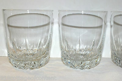 Cristal D'arques Diamant Old Fashioned Glasses Set Of 4  Exc