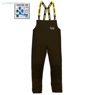 VASS Fishing Waterproof Lightweight 175 Bib & Brace Khaki Trousers *All Sizes*