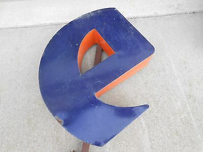 "Large Firestone Porcelain Letter Sign E 32 1/2"" Tall #4"