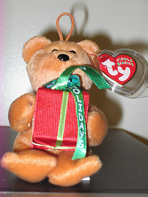 "Ty Jingle Beanie Baby ~ GIFTS the (5"") Happy Holidays Bear ~ MINT with MINT TAGS"