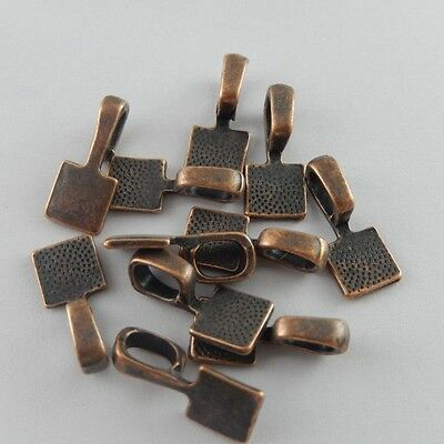 15X Antiqued Copper Tone  15*7*5mm Alloy Charm Glue On Bail Jewelry Findings