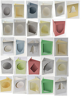 """3 fold aperture cards  Shapes with envelopes 6"""" by 4"""""""
