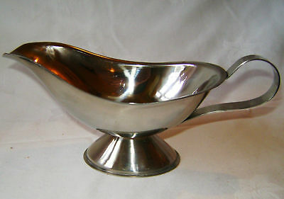 NEW STAINLESS STEEL TRADITIONAL GRAVY BOAT JUG 8oz