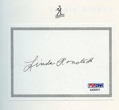 Linda Ronstadt Signed Autographed Hb Book W/ Psa: Aa50474