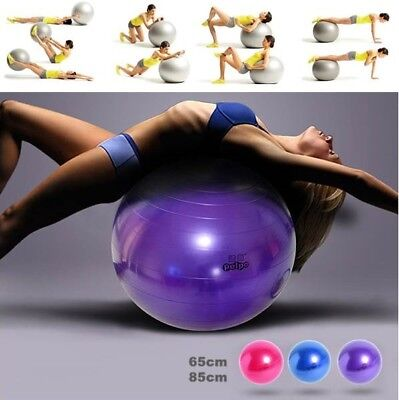 Yoga Swiss Ball Aerobic Pregnancy Fitness Gym Birthing Anti Burst Pump 85/65cm