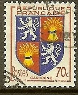 "France Timbre Stamp N° 958 "" Blason Gascogne "" Oblitere Tb"