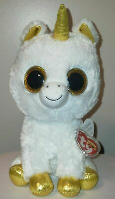 "Ty Beanie Boos ~ PEGASUS the 9"" Unicorn - European Exclusive ~NEW with MINT TAGS"