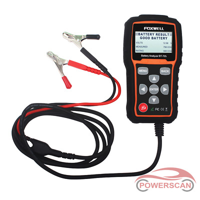 FOXWELL BT705 Auto 12/24V Battery Analyzer Load Tester & Charging System 2000CCA