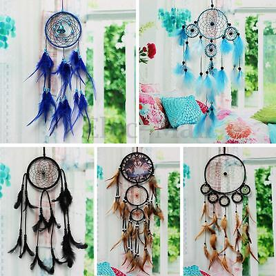 capteur de reves attrape reves plumes dreamcatcher murale. Black Bedroom Furniture Sets. Home Design Ideas