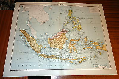 Large 'VICTORY' MAP ~ EAST INDIES ~ 1919 Alexander GROSS