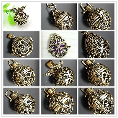 1X Bronze tone  Mexican Bola Bell Harmony Ball Angel Caller Locket Pendant