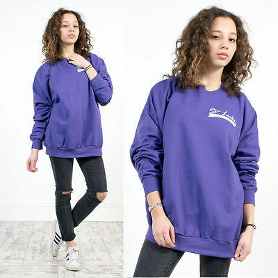 Vintage 90's Sweatshirt Jumper Usa Purple Crew Neck Oversize Sweater Casual 20