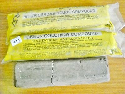 Buffing compound rouge white emery green large bars polishing 9 lb
