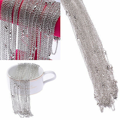 Wholesale Lot 100Pcs Silver Pld Making Handmade DIY Hard Link Chain Necklace 22'