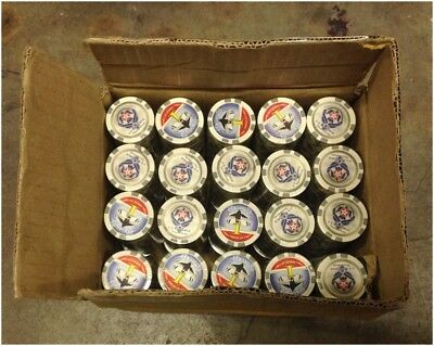 1000 Thunderbird US Air Force 1 White Composite Poker Chips 11.5gr GREAT DEAL *