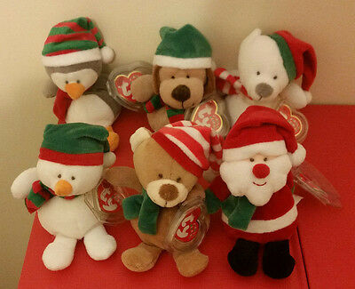 Ty Jingle Beanie Babies ~ Holiday 2006 Complete Set of 6 ~ MINT with MINT TAGS