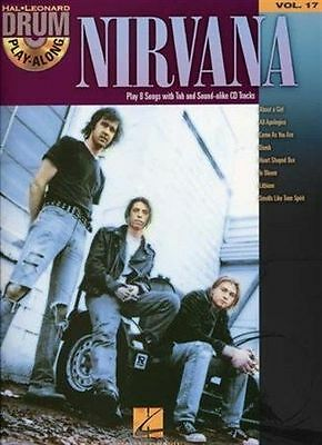 Best Of Nirvana Drum Play-Along 17 Sheet Music Book +CD Grohl Greatest Hits NEW