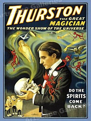 "Thurston ""Do The Spirits Come Back?"" 1914 Magic Poster - 18x24"