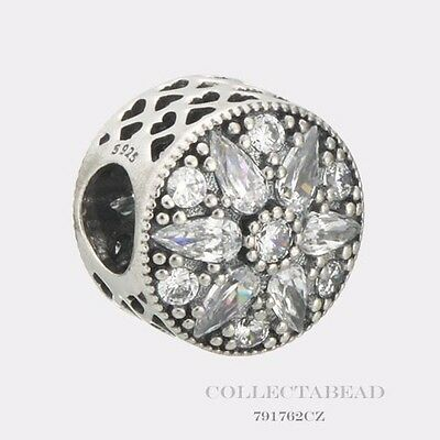 Authentic Pandora Sterling Silver Radiant Bloom Crystal CZ Bead 791762CZ