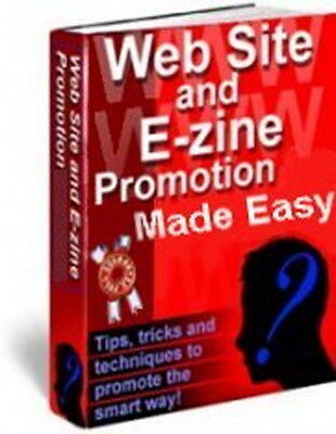 WEBSITE & EZINE Promotion Made Easy Marketing - Free Online Traffic Methods (CD)
