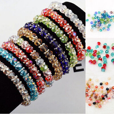 Lots 100 Pcs Mixed Color Crystal Glass DIY Loose Beads Phone/Wedding/Home Decor