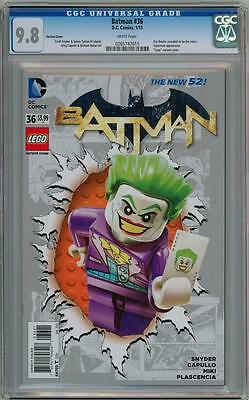 Batman #36 Joker Lego Variant Cgc 9.8 Dc Comics Suicide Squad Movie