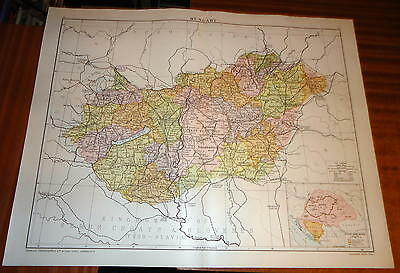 Large 'VICTORY' MAP ~ HUNGARY ~ 1919 Alexander GROSS