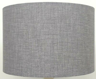 Silver / Grey  Linen Style Cylinder / Drum Lampshades , Ceiling Light / Pendant