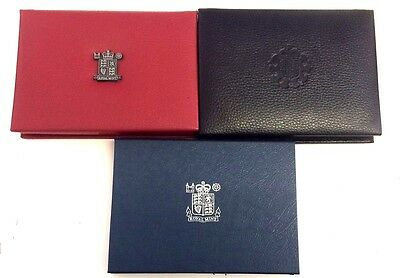UK Proof Set Deluxe Covers Only Black Red Blue leather Royal Mint Case